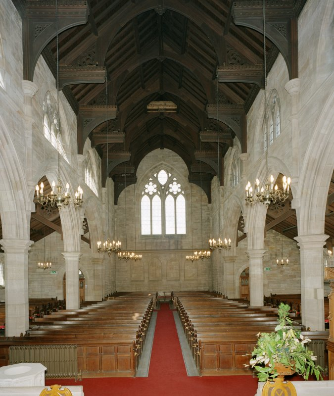 Interior.  Nave, view from chancel to south east
