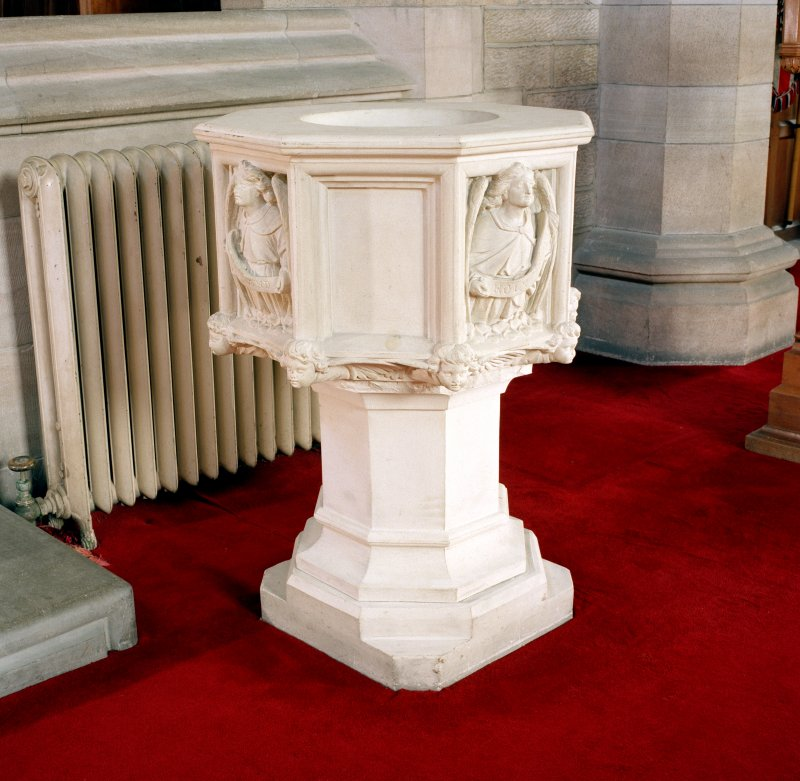 Interior.  View of font