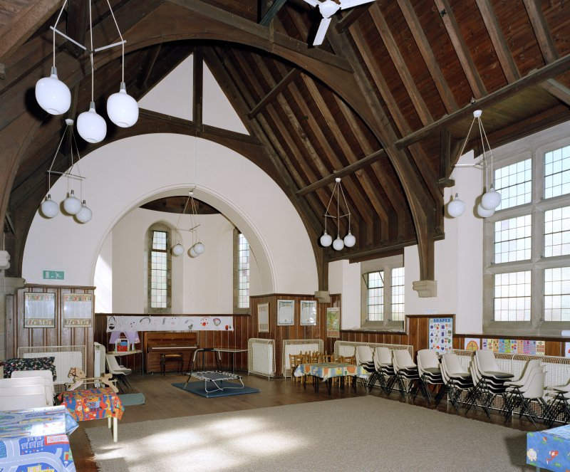 Interior.  Lesser hall, view from south