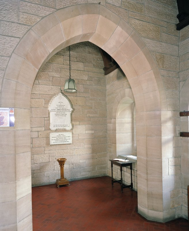Interior.  North east porch, view from east