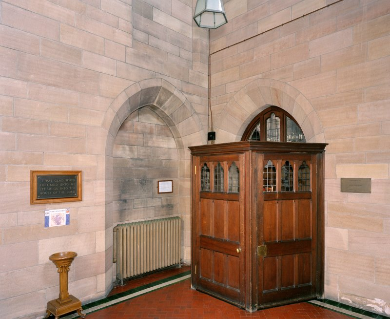 Interior.  North west porch (tower), view from north west