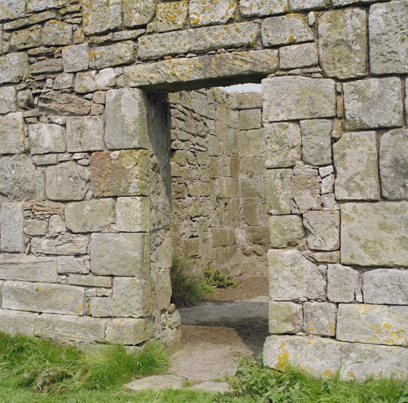 View of doorway from South.
