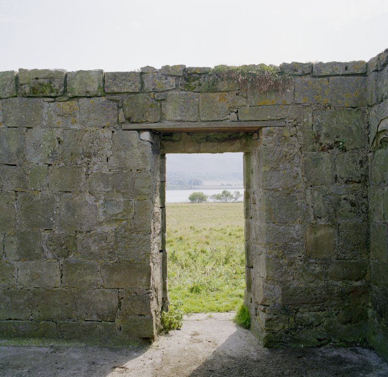 View of interior of doorway from North.