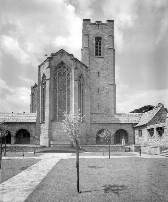 Reid Memorial Church,  General view from East side of court.