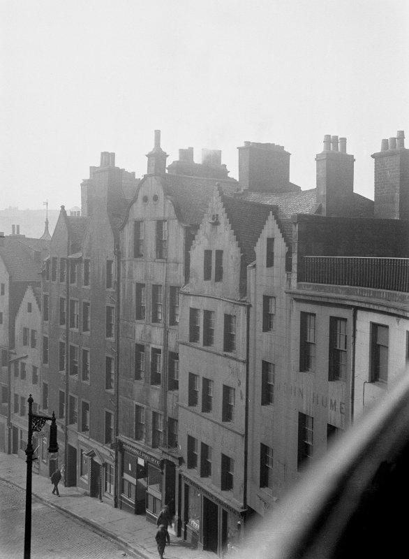 Elevated view of west side of West Bow taken from Victoria Terrace, Edinburgh.