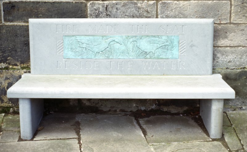 View of The Riddle Bench, outside Duddingston Kirk, Old Church Lane.