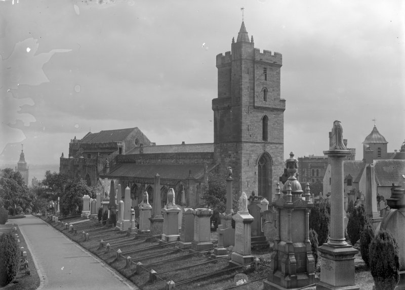 General view from graveyard, Church of the Holy Rude, Stirling.