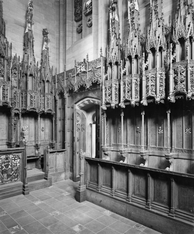 Interior-general view of stalls in Thistle Chapel
