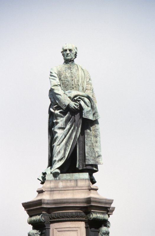 View of statue of Gladstone at top of Gladstone Memorial.