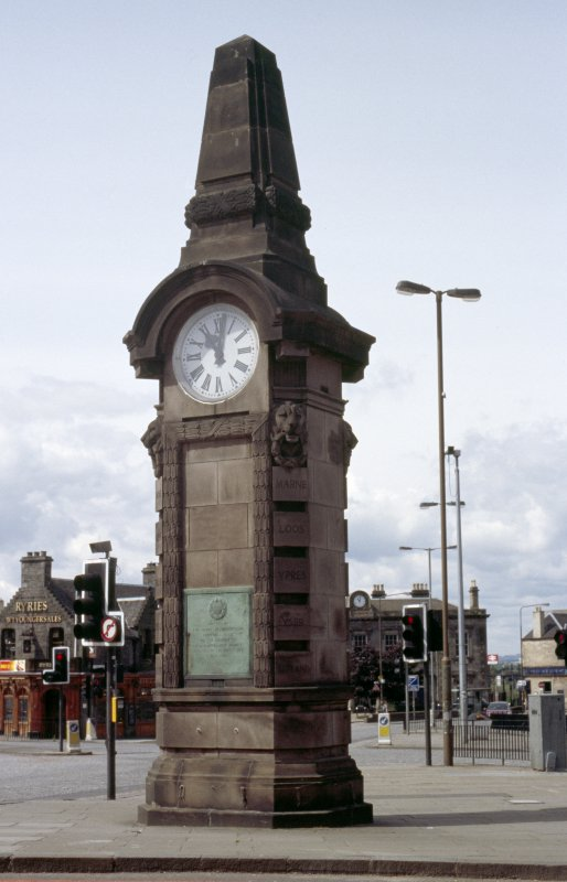 View of Heart of Midlothian War Memorial at Haymarket.