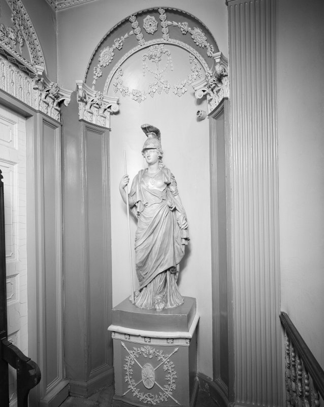 50 - 53 Carlton Place, Laurieston House, interior View of statue, first floor landing.