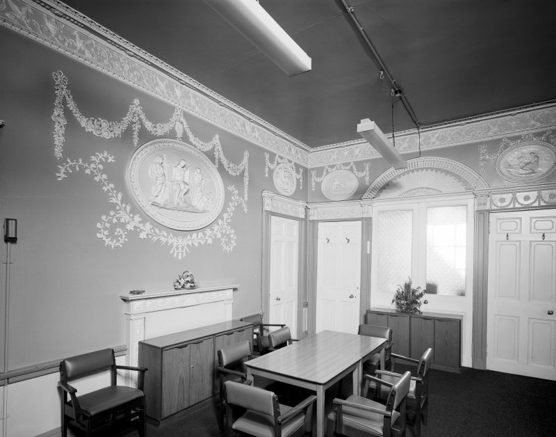 50 - 53 Carlton Place, Laurieston House, interior View of library from North