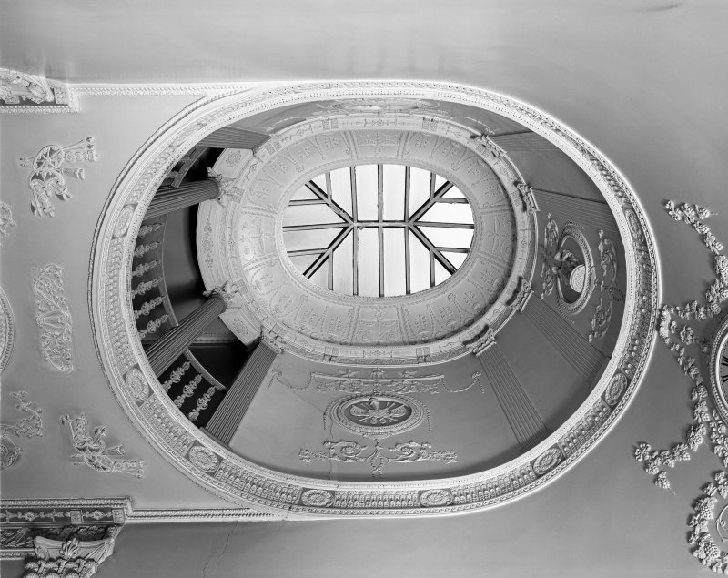 50 - 53 Carlton Place, Laurieston House, interior View of cupola, staircase hall