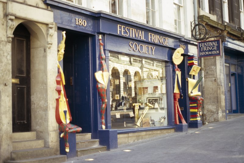 View of Festival Fringe Society, showing sculpted figures.