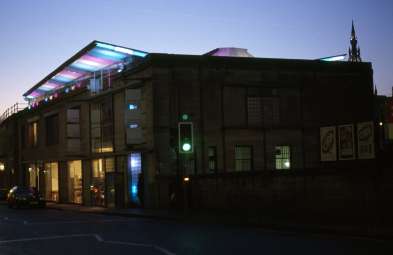 View of Fruitmarket Gallery, showing 'Northern Lights'.