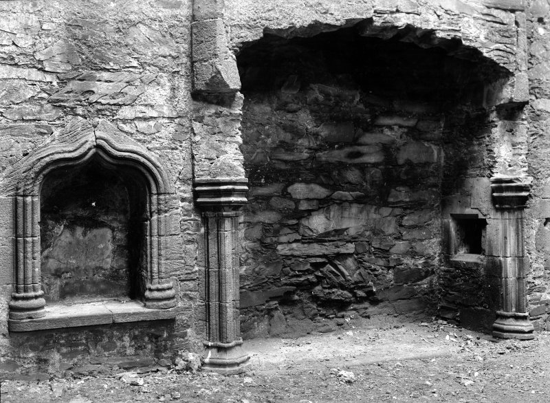 Interior. Hall, detail of fireplace.