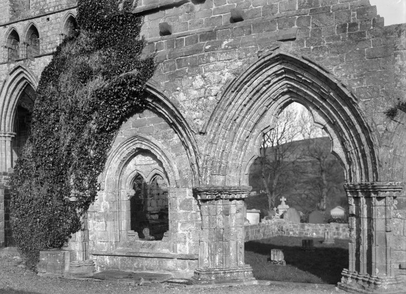 View of chapter house entrance.