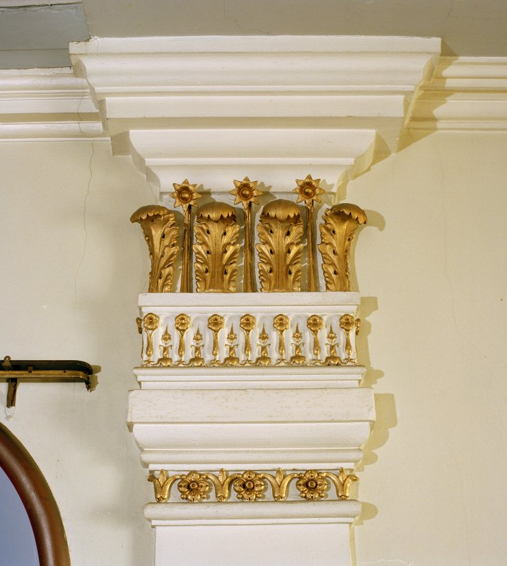 Interior, detail of capital of pilaster