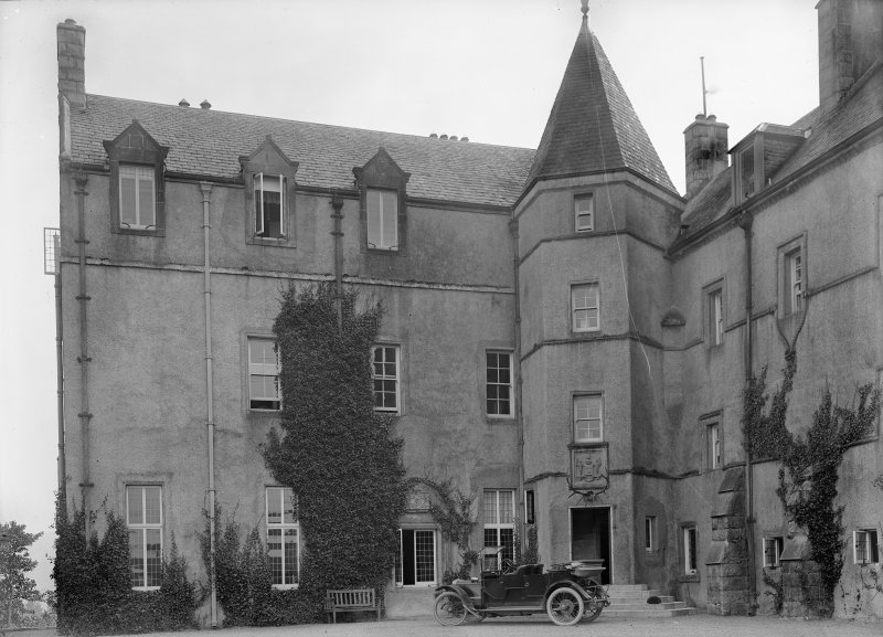 View of E wing, Kenmure Castle.