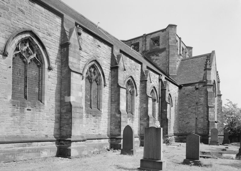 View of church and churchyard.