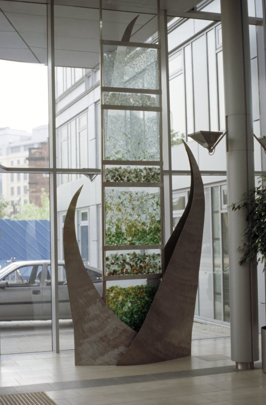 View of sculpture in foyer of 40 Torphichen Street.