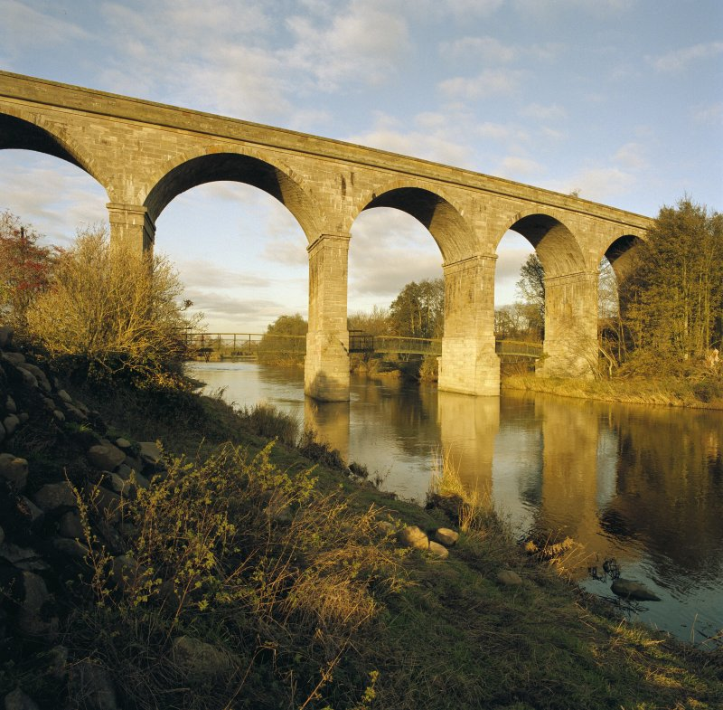 View of the Roxburgh Railway Viaduct from the West South West