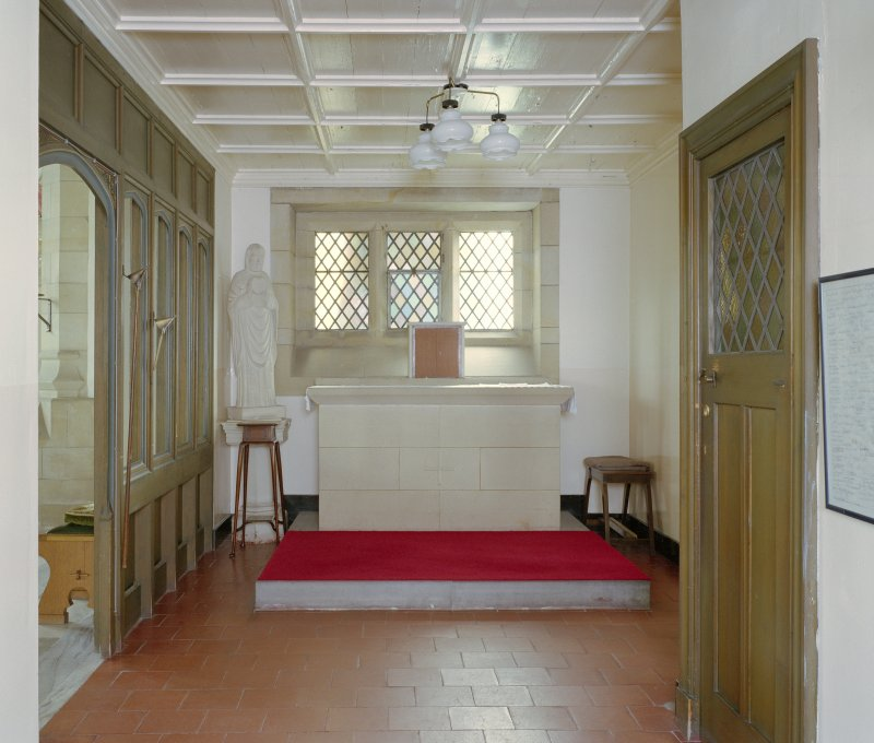 Detail of Priest's room/private chapel to S.