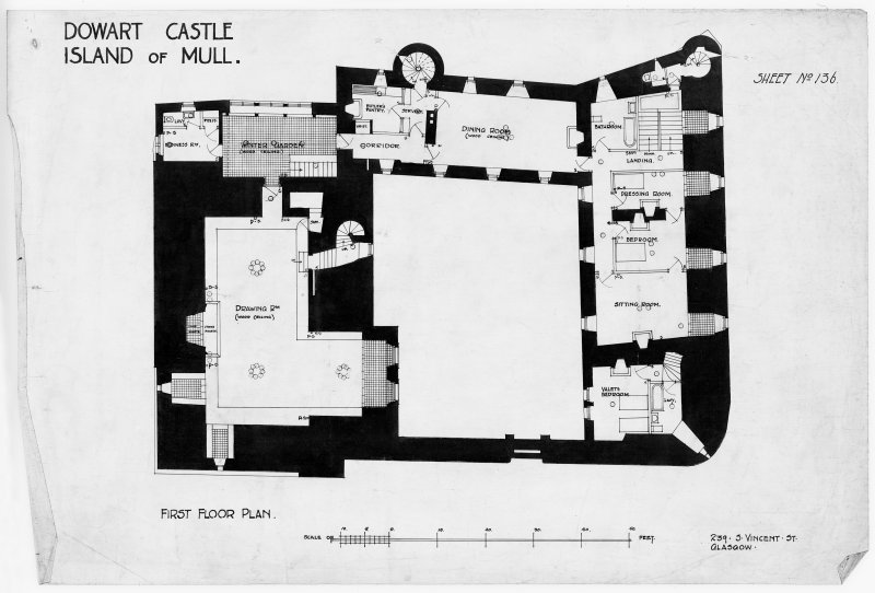 Photograph of drawing showing First Floor Plan.