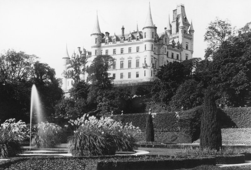 View of Dunrobin Castle.