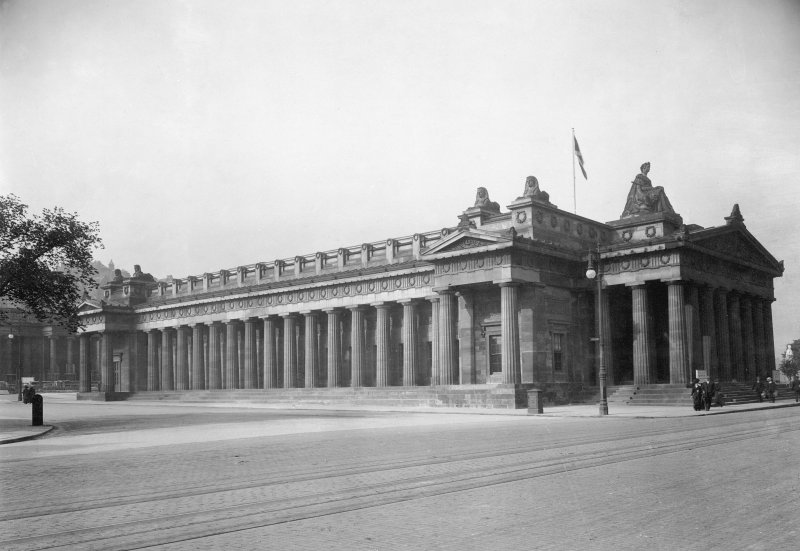 View of the Royal Scottish Academy, Edinburgh, from NE after reconstruction 1911.