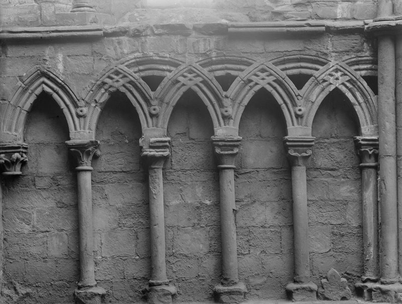 Detail of arcade in North Aisle of Holyrood Abbey (Chapel Royal)