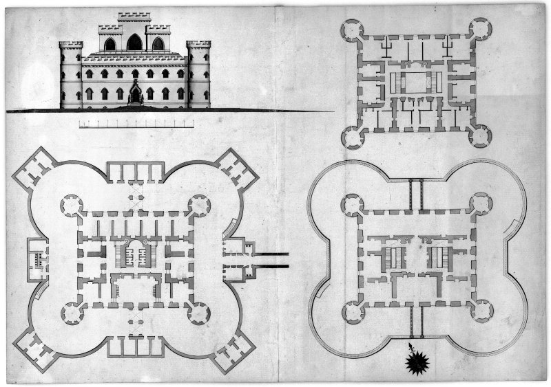 Inveraray Castle, interior. Drawing of design for C1 balcony.