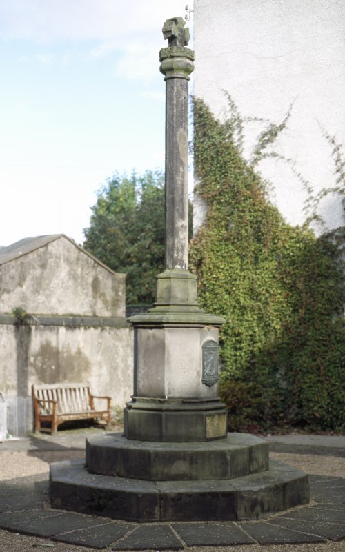 View of Canongate Mercat Cross.