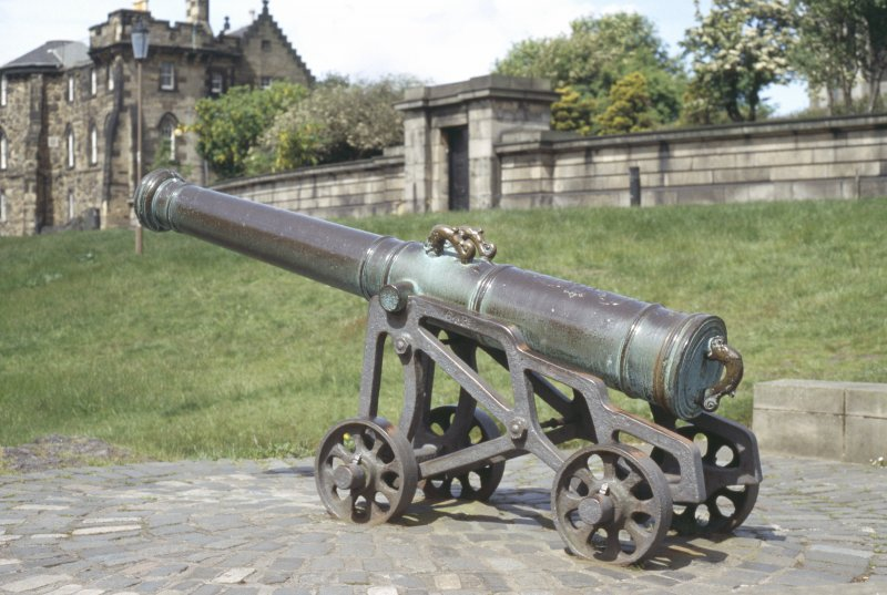 View of cannon on Calton Hill.
