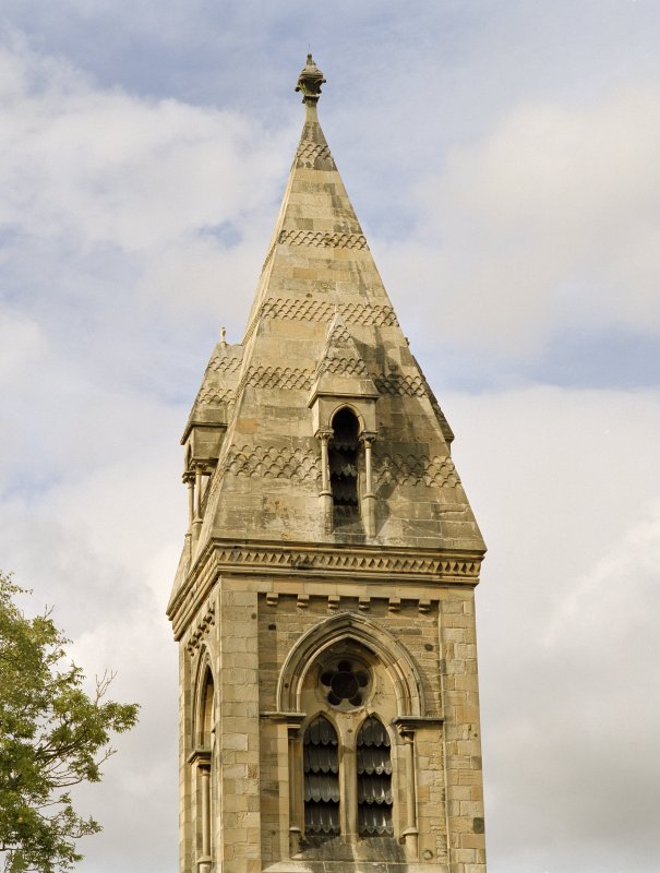 View of spire from S