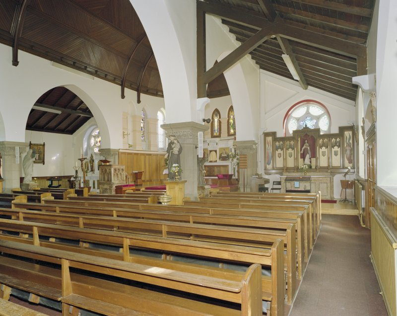 Interior. W side chapel, view from NW