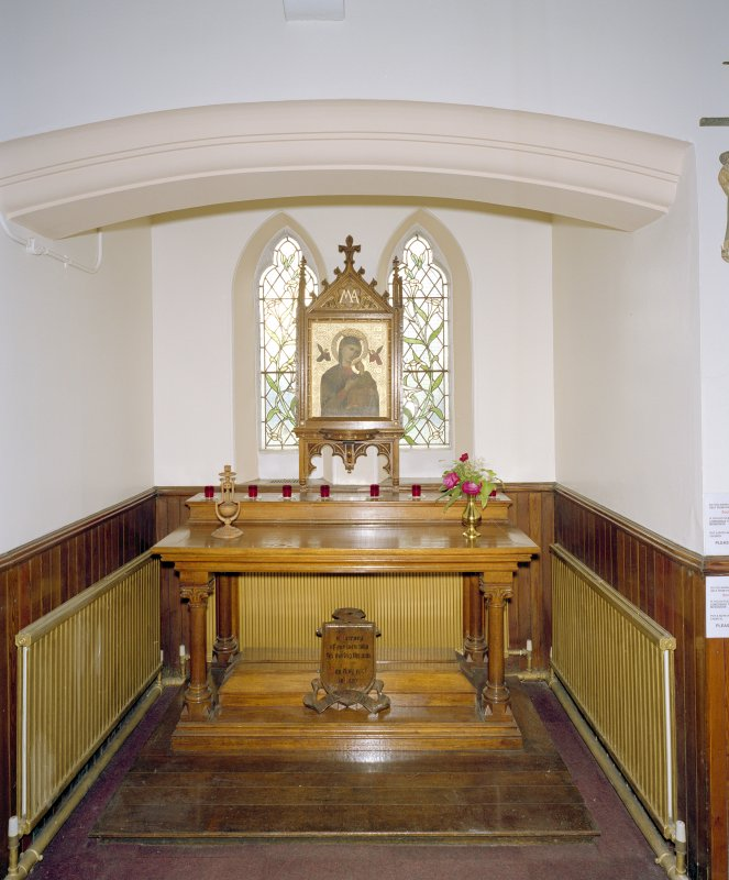 Interior. View of niche with altar in SW wall