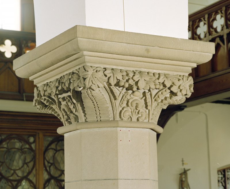 Interior. Detail of pier capital