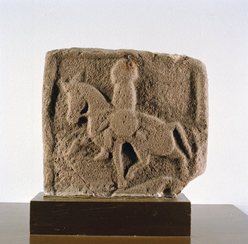 Reverse of cross-slab (no.2), on display in Montrose Museum.