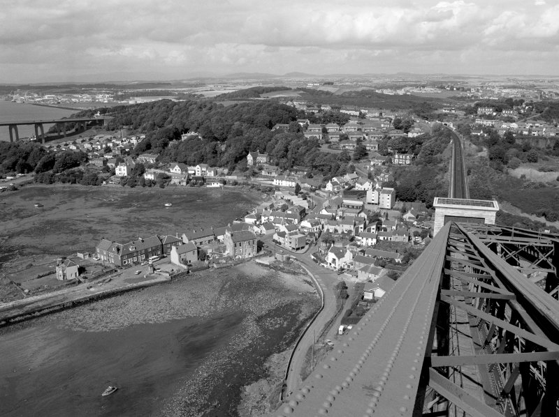 View from North cantilever of Fife erection of Forth Bridge