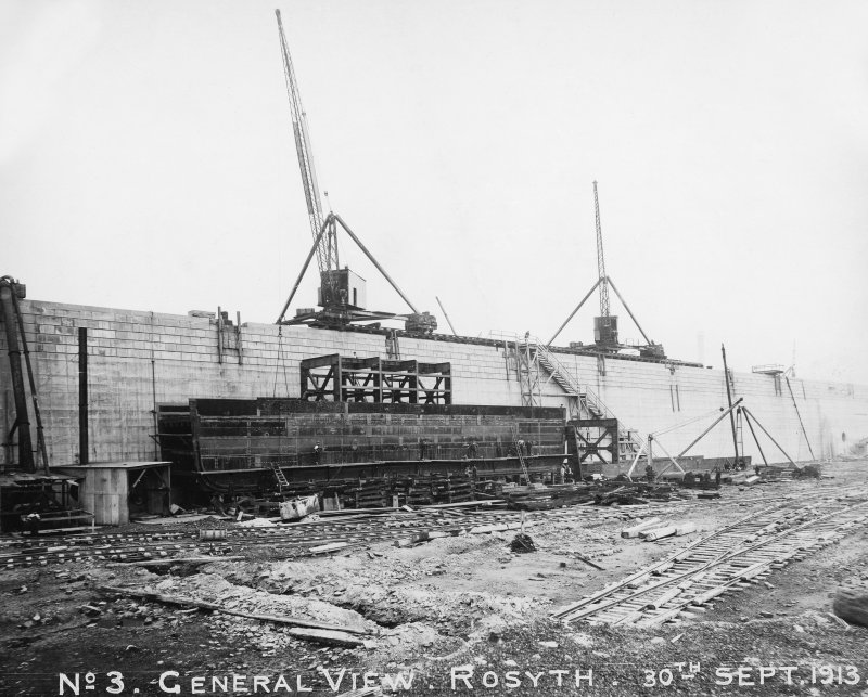 No 3  General view of Rosyth Dockyard d: 'Sep 30 1913'