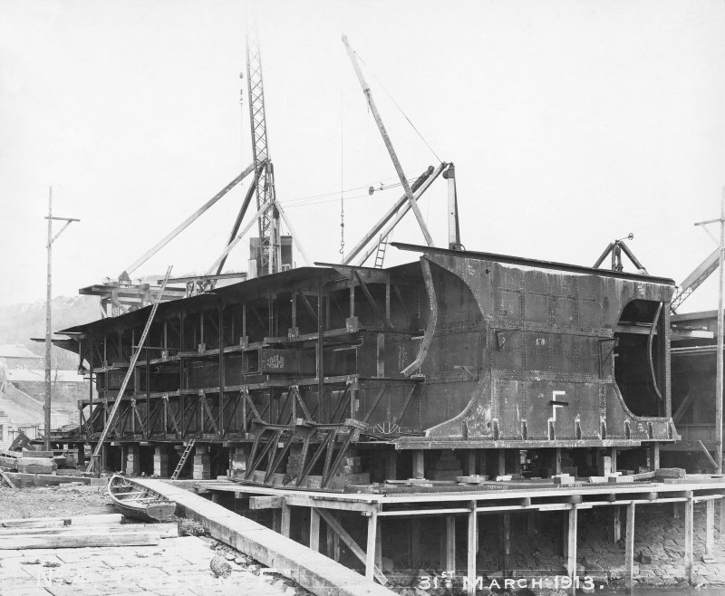 General view caissons 'F', Rosyth Dockyard  d: 'Mar 31 1913'