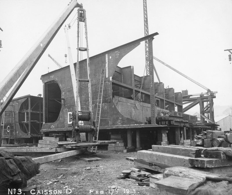 General view of caisson 'D', Rosyth Dockyard d: 'Feb 17 1913'