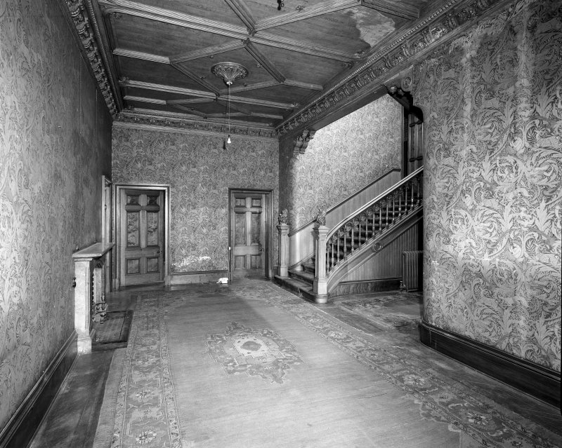 Interior, Carbeth House. View of entrance lobby.