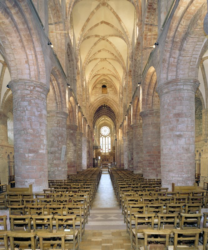 Interior.  Nave, view from W