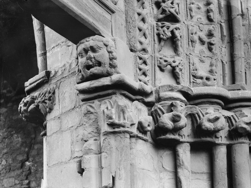 Detail of West doorway of Holyrood Abbey (Chapel Royal)