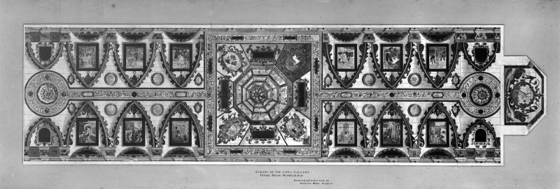 Photographic copy of drawing. Gallery ceiling from a drawing by Hamilton More Nisbett