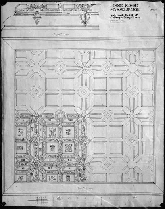 Photographic copy of drawing No 859 of ceiling.
