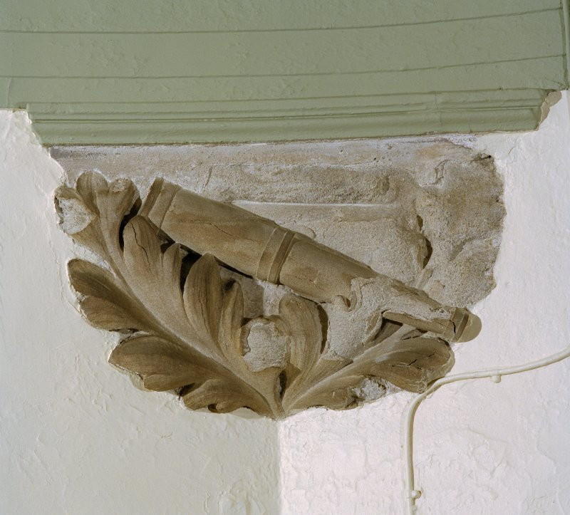 Interior. 2nd floor, orrery, detail of carved stone corbel
