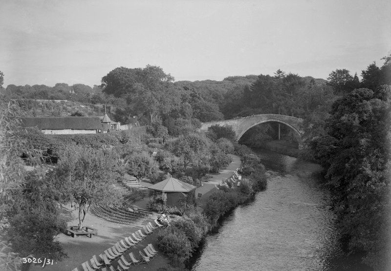 View of Brig O'Doon bridge, Ayr, from North.